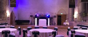 dartington hall white wedding disco